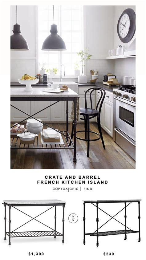 Crate and Barrel French Kitchen Island   copycatchic