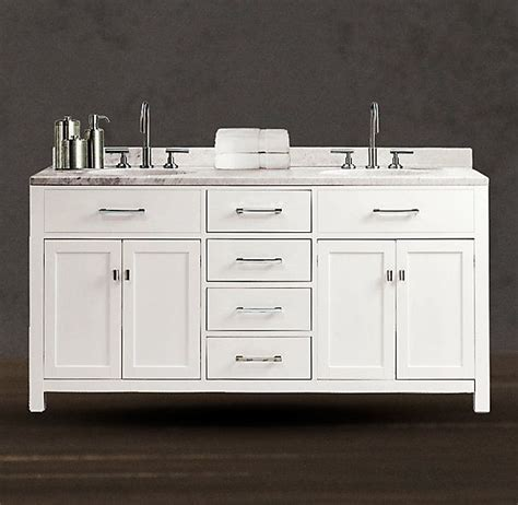 hutton double vanity sink white restoration hardware