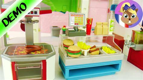 jeux de cuisine hamburger restaurant rapide playmobil 6441 mc donalds en ville