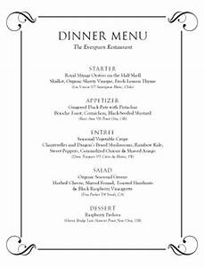 customize tasting menu template With free menu templates for dinner party