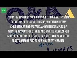 What Is The Def... Respect Definition