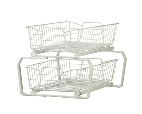 closetmaid wire basket closetmaid 2 tier sliding pull out wire baskets kitchen