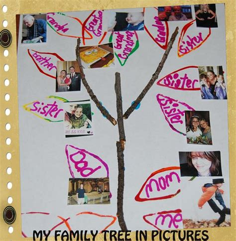 my family family tree stick crafts for preschool 393 | My Family Tree in Pictures