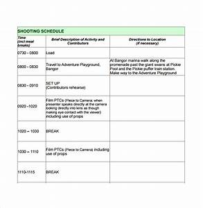 10 production schedule templates free sample example With documentary production schedule template