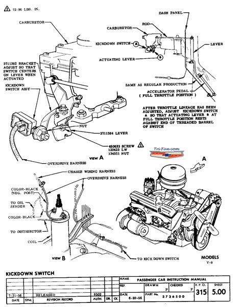 1956 Chevy Overdrive Wiring by 57 Overdrive V8 Into 6 What S Different Trifive