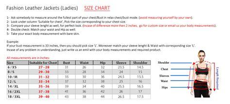 Us Leather Jacket Size Chart