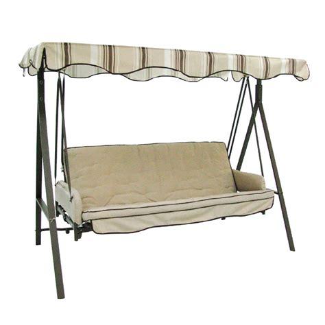 shop garden treasures 3 seat steel traditional porch swing