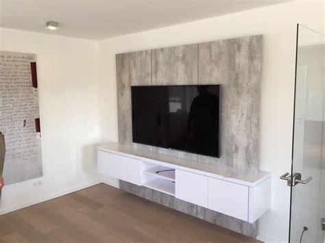 tapetenkleister für vliestapeten tv wand in betonoptik bestseller shop f 252 r m 246 bel und