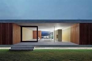 Terrasse Bauen Beton : minimalistisches haus beton holz landschaftsbau terrasse beleuchtung architektur ~ Orissabook.com Haus und Dekorationen