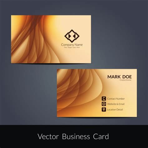 vector wave pattern business card design