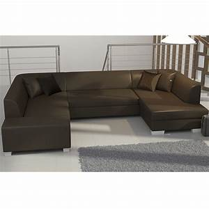 meuble de salon canap canape canap d39angle marron With tapis de course avec canape d angle convertible grand couchage