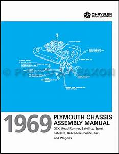 1969 Plymouth Chassis Assembly Manual Satellite Gtx Road