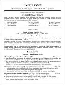 best resume for college graduate resume sle for marketing associate new graduate