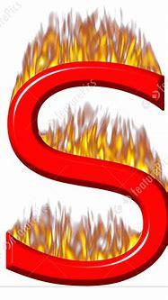 3D Letter S On Fire Illustration