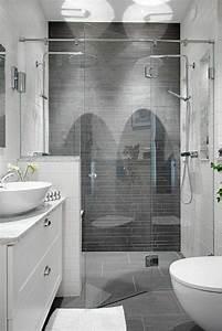 la salle de bain avec douche italienne 53 photos With salle de bain carrelage gris et blanc