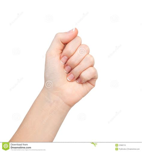 Woman Hand Clenched In A Fist Stock Image Image Of