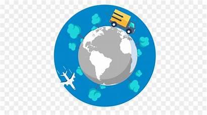 Clipart Planet Trade International Export Cartoon Globe