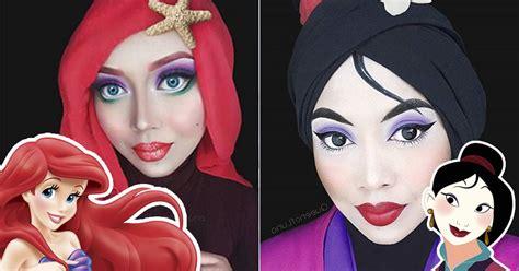 malaysian makeup artist transforms  stunning disney