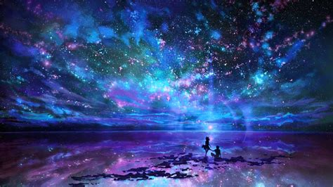 digital art space sky scenery hd wallpaper