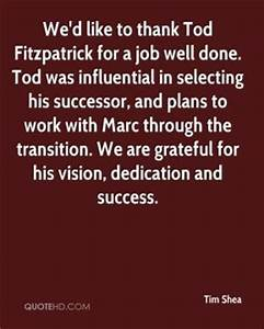 Thank You Quotes For A Job Well Done. QuotesGram