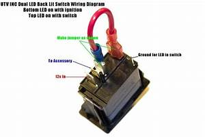 Rocker Switch Help Kawasaki Teryx Forum Exceptional 4 Pin Toggle  U2013 Wiring Diagram