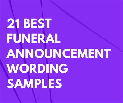 funeral announcement wording samples  cards