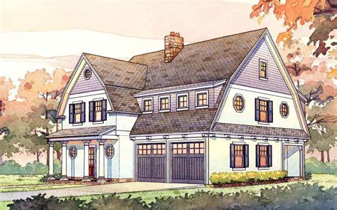 2 Story Passive Solar Gambrel House Plan