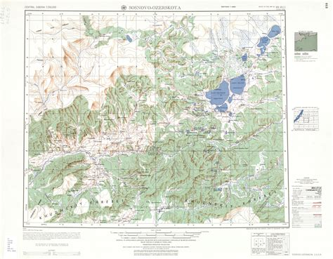 Topographic Map of Siberia