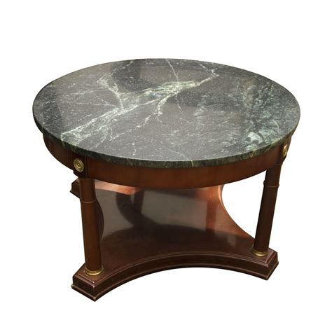 These low round tables are ethically handcrafted, with natural rattan from sustainable resources and. Green Marble Topped Coffee Table | EBTH