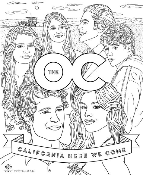 oc coloring page celebrate   year anniversary