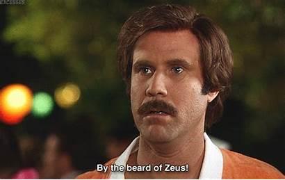 Ron Anchorman Gifs Burgundy Quotes Beard Zeus