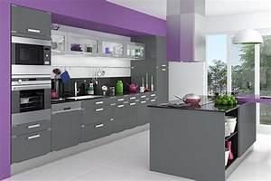 Meuble cuisine gris mobilier design decoration d39interieur for Deco cuisine pour meuble de cuisine