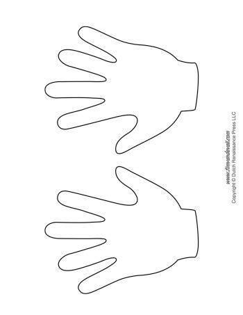 handprint templates tims printables