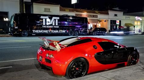 floyd mayweather flexes supercars  tygas bugatti