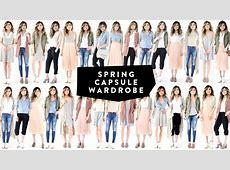 12 Pieces = 30 Looks 2017 Spring Capsule Wardrobe