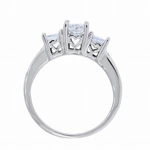14k white gold 110ctw princess cut diamond engagement ring With wedding ring cuts