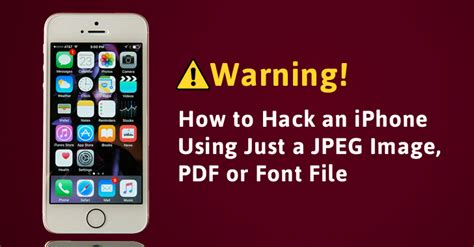 how to open a pdf on iphone warning your iphone can get just by opening a jpeg