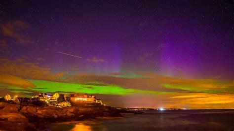 northern lights maine northern lights spotted maine new hshire wgme