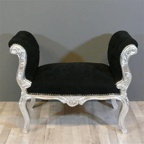 banquette baroque noire chaise baroque pouf baroque