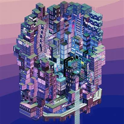 Pixel 3d Aesthetic Bit Gifs Giphy Isometric