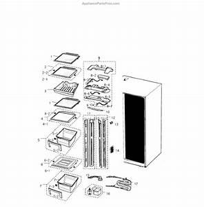 Parts For Samsung Rs2530bbp  Xaa    0000  Refrigerator Parts