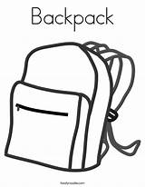 Backpack Coloring Pages Noodle Built California Usa sketch template