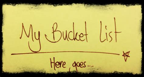 bucket list why i the term list
