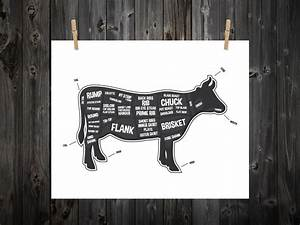 Cow Butcher Diagram Butcher Print Butcher Chart Cow