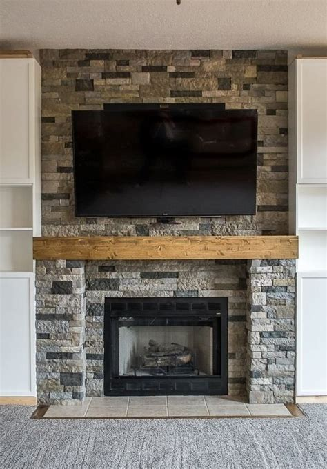 airstone fireplace surround fireplace makeover ideas