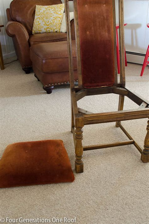 How To Reupholster A Dining How To Reupholster A Dining Chair Four Generations One Roof