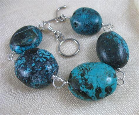 December Birthstone Turquoise Bracelet Turquoise Nuggets