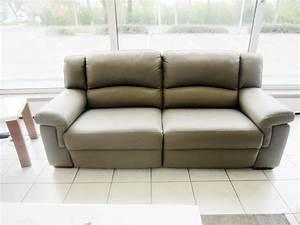 Sofa Mit Relaxfunktion Leder : divanotti 3er sofa mit elektrische relaxfunktion 2er sofa in leder schlamm ebay ~ Indierocktalk.com Haus und Dekorationen