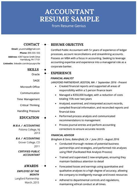 resume samples accounting bijeefopijburgnl