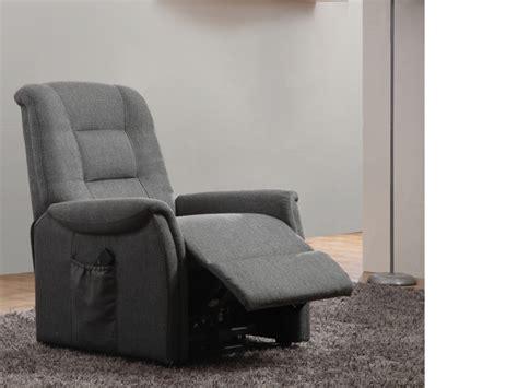 canapé made in fauteuil releveur électrique en tissu 2 coloris nerudo
